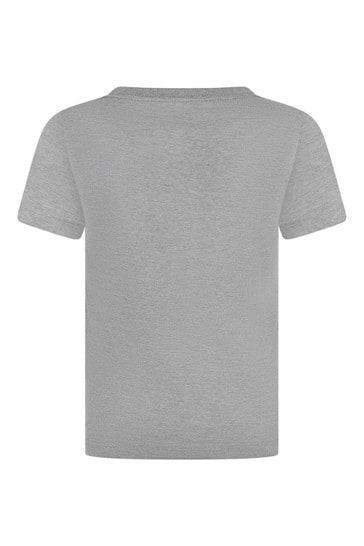 Levi's® Boys Grey Cotton Logo Print T-Shirt