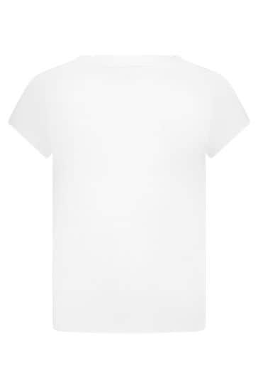 Girls White Jersey T-Shirt