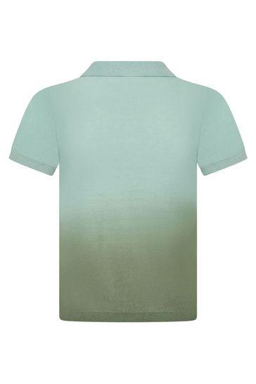 Boys Green Cotton Poloshirt