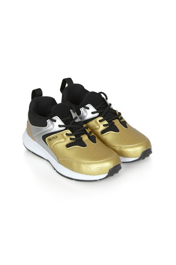 Boys Gold Trainers