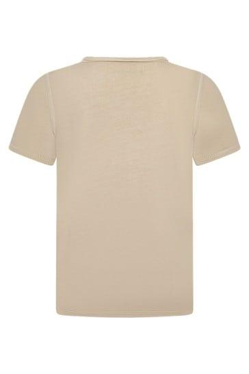 보이즈 베이지 코튼 티셔츠