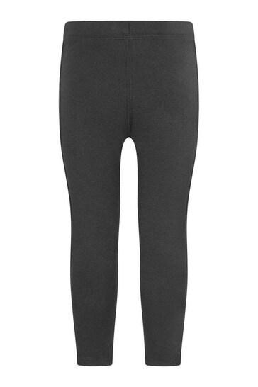 Girls Black Cotton Krista Leggings