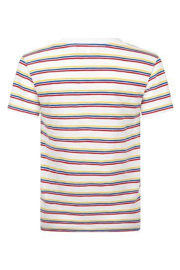 Boys Cream Cotton T-Shirt