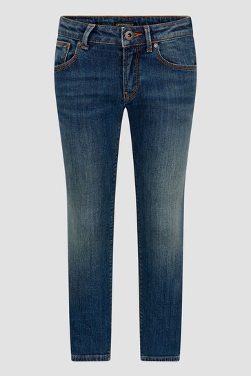 Boys Blue Stone Washed Jeans