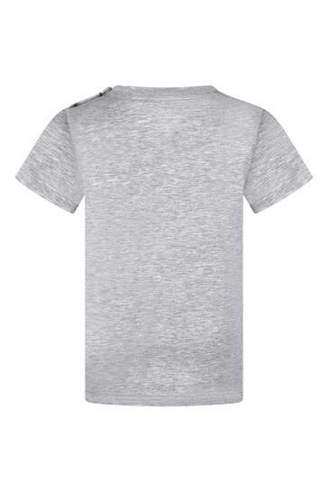 Baby Grey Cotton Vintage Logo T-Shirt