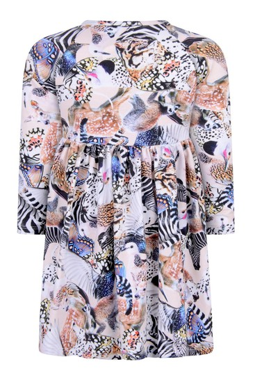 Baby Girls Pink Animals Organic Cotton Dress