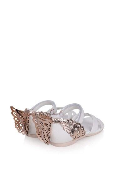 Sophia Webster White/Gold Evangeline Sandals