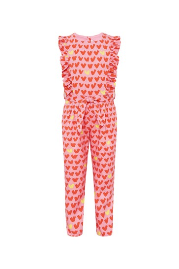 Girls Pink Jumpsuit