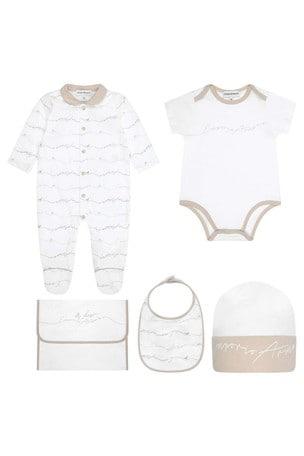 Baby Beige/White Cotton Gift Set