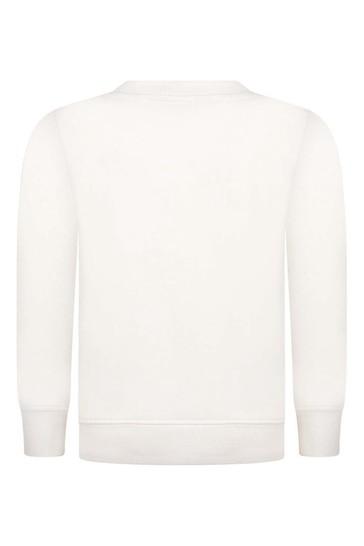 Kids Ivory Cotton Teddy Sweater