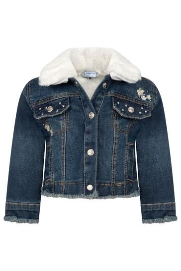 Baby Girls Blue Cotton Denim Jacket