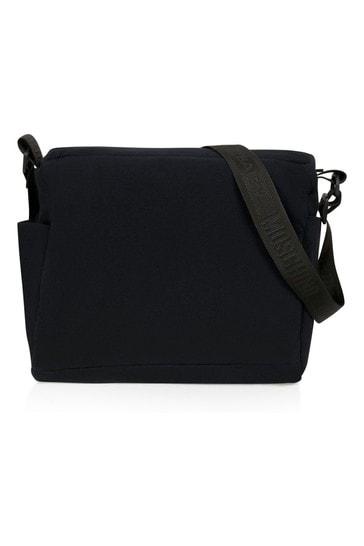 Kids Black Cotton Changing Bag