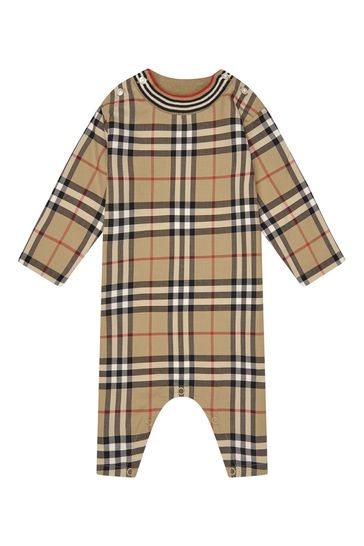 Baby Beige Cotton All In One