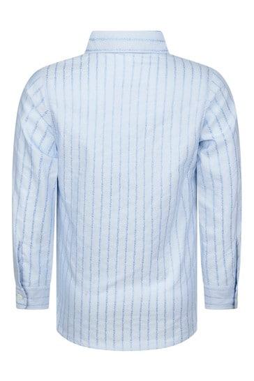 Boys Blue Striped Shirt