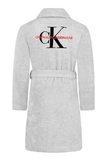 Kids Grey Organic Cotton Bath Robe