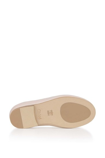 Girls Pale Pink Leather Loafers