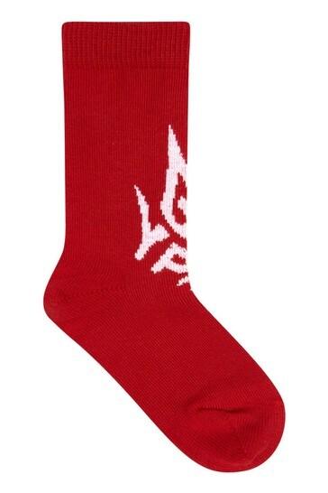 Boys White Cotton Sock 2 Pack