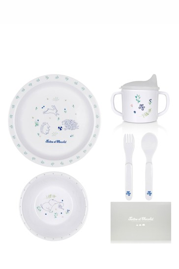 Baby White Dining Set
