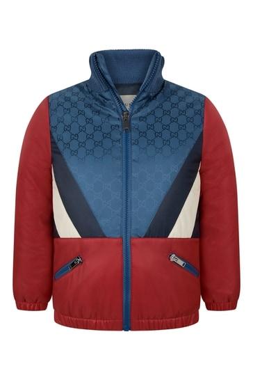 Boys Red/Blue GG Windbreaker Jacket