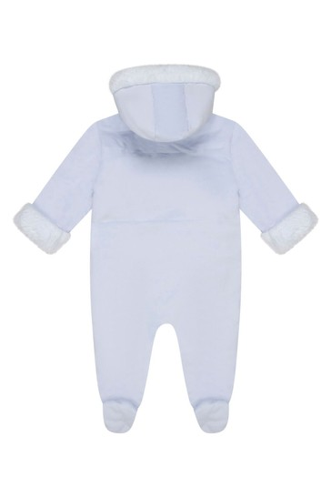 Baby Boys Pale Blue Padded Snowsuit