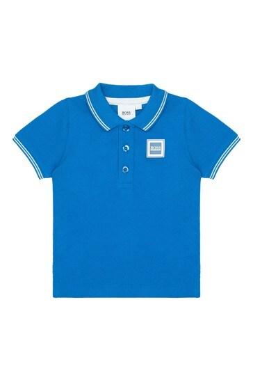 BOSS 베이비 보이즈 블루 코튼 폴로셔츠