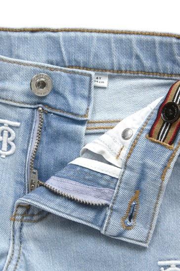 Girls Blue Cotton Jeans