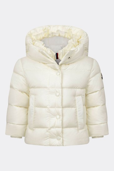 Baby Girls Ivory Down Padded Nana Jacket