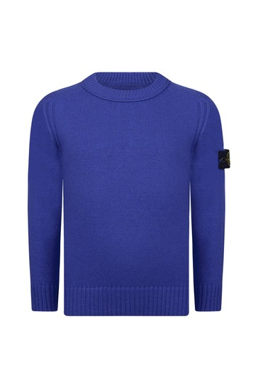 Boys Blue Knitted Jumper