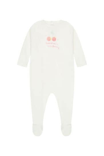 Baby Cream Cotton Babygrows