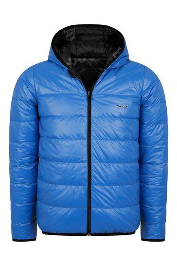 보이즈 블루 리버시블 패딩 재킷