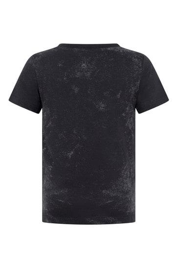 Boys Grey Cotton Gucci Web T-Shirt