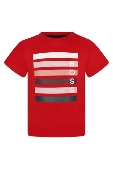 Baby Boys Red Cotton T-Shirt
