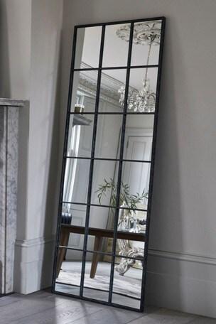 Buy Metal Window Floor Mirror from Next Kuwait