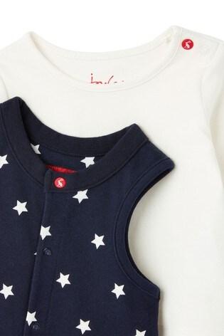 Joules Blue Saylor Sleeveless Babygrow Set