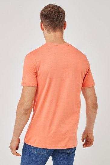 Orange Good Vibes Graphic T-Shirt