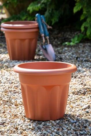 Set of 3 Wham Vista 25cm Plastic Round Planters