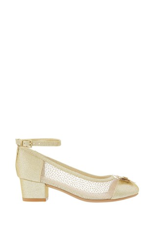 Monsoon Gold Butterfly Princess Shoes