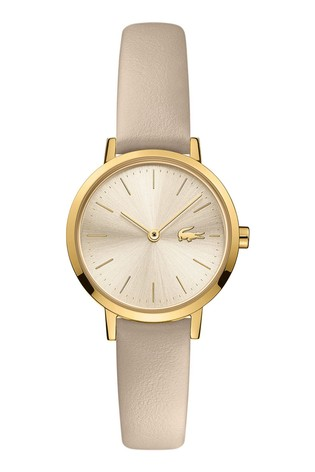 Lacoste Taupe Leather Moon Mini Watch