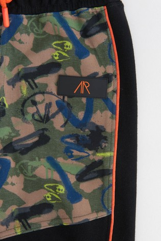 Angel & Rocket Green Camouflage Joggers