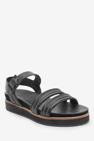Whistles Contrast Stitch Footbed Sandals