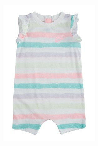Nike Baby Pastel Stripe Romper