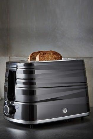 Swan Symphony Black 2 Slot Toaster