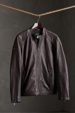 Superdry Light Leather Racer Jacket