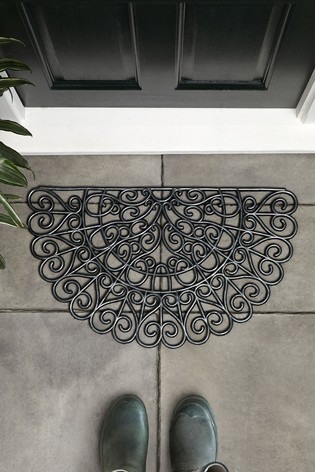 Heart Scroll Doormat