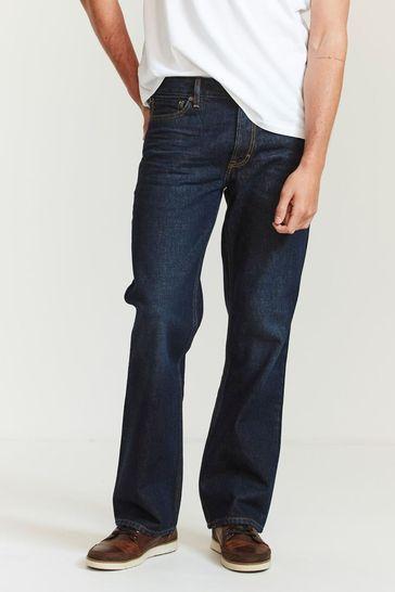 FatFace Blue Dark Vintage Wash Boot Cut Jeans