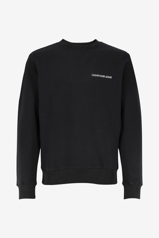 Calvin Klein Jeans Black Back Monogram Sweatshirt