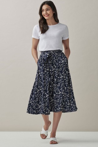 Crew Clothing Company Blue Emelia Skirt