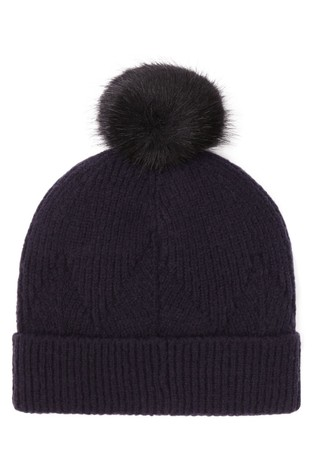 Joules Blue Thurley Knitted Hat