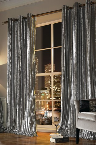 Ashley Wilde Silver Eyelet Curtains