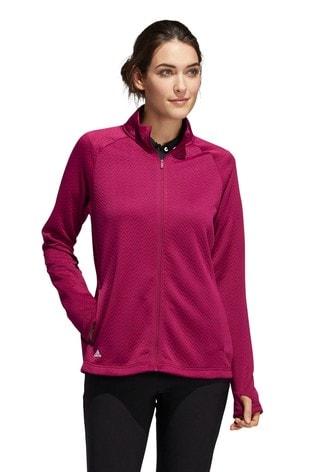 adidas Golf Full Zip Textured Jacket